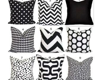 Black Pillows, Black Pillow Covers, Black Decorative Pillows, Black Chevron Pillow.Black Cushion Cover.Black Euro Sham.Black Pillow Sham.cm
