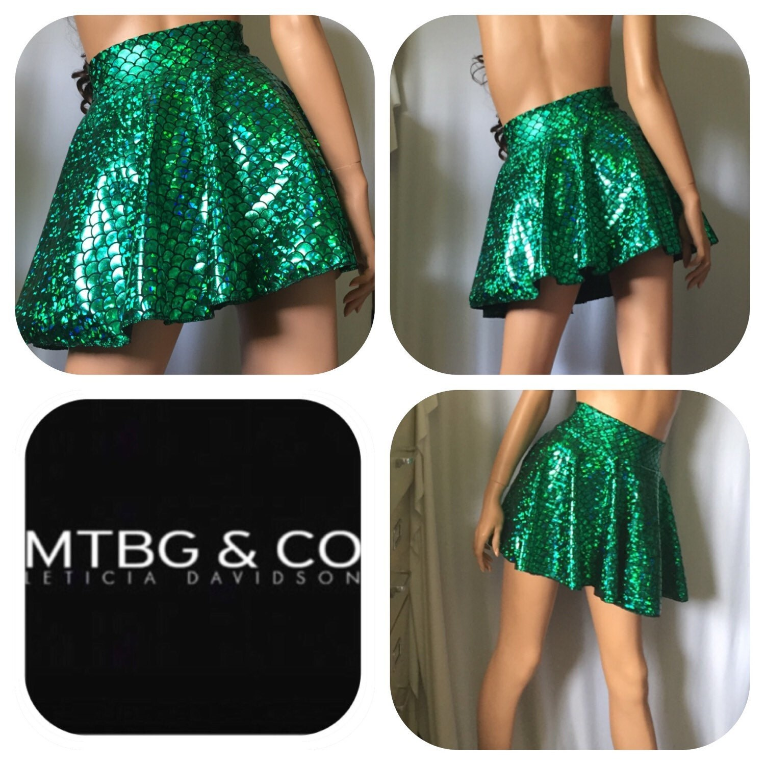 vero high waisted skirt mermaid print mermaid mini skirt