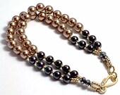 Two Strand Swarovski Pearls Bracelet