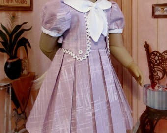 "Detailed 1930s Frock - Fits 18""  Kidz n Cats Doll, An Original  KeeperDollyDuds Design"