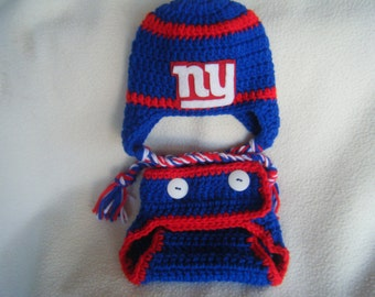 Crocheted Giants Inspired Hat & Diaper Cover (Or Choose Another Team) These Are Made to Order