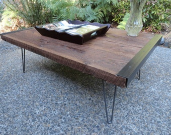 30 x 48 industrial coffee table with distressed by for Coffee table 48 x 30