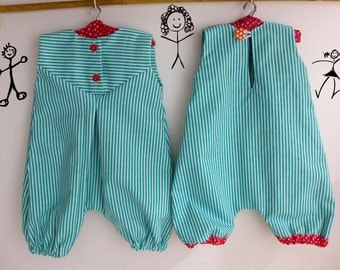 "Doll clothing sewing PATTERN , DIY doll clothes,  Waldorf doll ,  rompers for 18-20"" dolls"