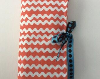 Scandi ric rac fabric crochet hook roll
