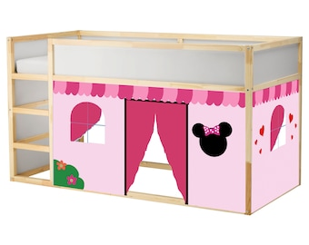Minnie Bed Playhouse / Bed tent / Loft bed curtain - free design and colors customization