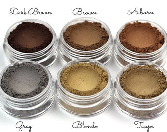 Eyebrow Powder - Vegan Mineral Eye Brow Powder Net Wt 2g Natural Mineral Makeup Pigment