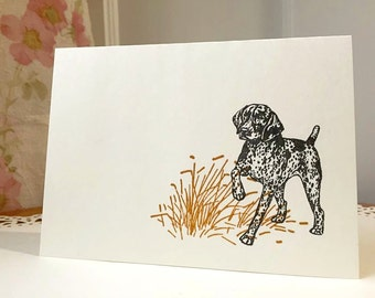 german shorthaired pointer cards,german shorthaired pointer stationery,german shorthaired pointer,GSP note cards,dog cards, GSP,8 cards