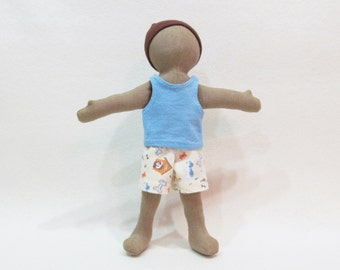 "Little doll clothes, summer doll outfit, simple doll clothes, natural doll options, environmentally friendly doll clothes, 11"" doll clothes"