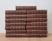Antique Leather Bound Book Set - Modern Eloquence - 15 Volume Set - 1900 - Speeches - Addresses - Lectures - Book Decor
