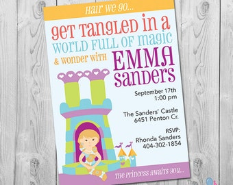 Tangled Birthday Party Invites, Tangled Invites, Tangled Birthday Party Printable