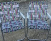 Vintage  aluminum lawn chair PAIR