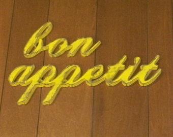 bon appetit Sign Wood Wall Decor