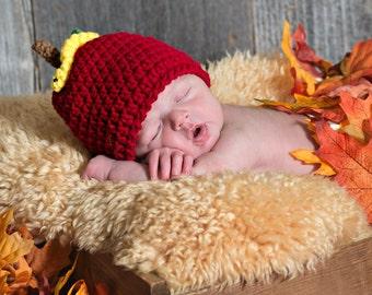 Newborn Apple Hat / Photo Props for Newborn Photography  - Newborn -12 mos.
