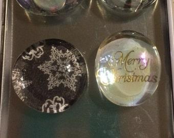 Christmas Glass Mable Magnets