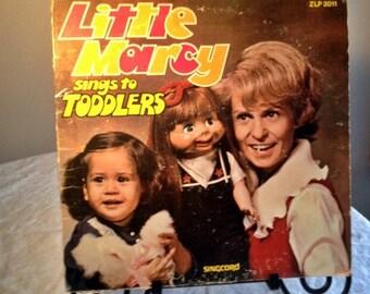 CIJ Sale Vinyl LP Little Marcy Sings to Toddlers Vintage Children's Music