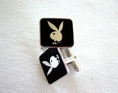 Rad GenX Playboy Bunny Cufflinks Father's Day Gifts Collectible Memorabilia Hot Gifts for Him Gnarly Graduation Gifts Radical Gifts for Dad