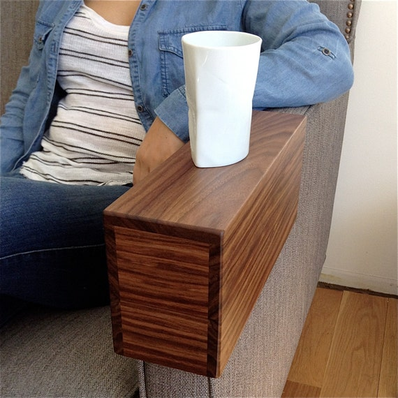 Couch arm cover custom solid wood armchair by for Sofa arm covers cat