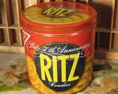 Ritz Crackers 50th Anniversary Tin by Nabisco 1984
