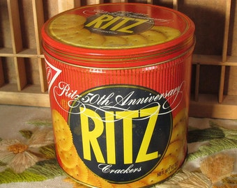 Ritz Crackers 50th Anniversary Tin by Nabisco 1984