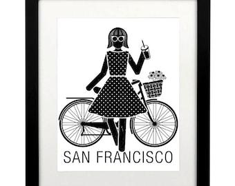 San Francisco Art Printable, San Francisco Art, SF Art Print, SF Poster, SF Travel Poster, San Francisco Travel Poster,  San Francisco