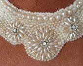 Vintage pearl Necklace / Collar
