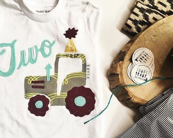 Swanky Shank Birthday Tractor SHIRT or Bodysuit