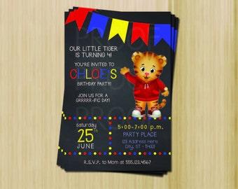 Daniel Tiger Party Invitation