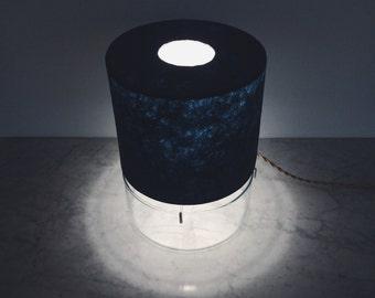 Closed Top Vessel Lamp, Deep Blue