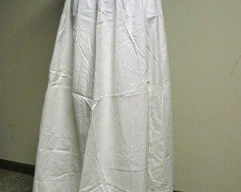 ON SALE Mid-19th Century White Cotton Underpetticoat