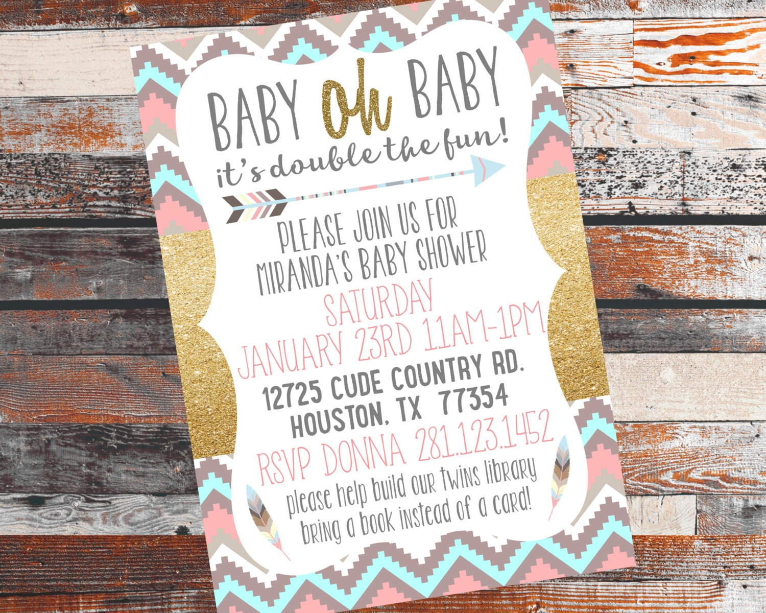 twins baby shower invite twins shower twin babies triplets