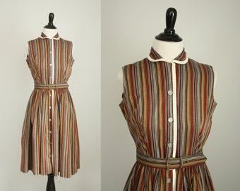 1960s dress | vintage 60s shirtwaist dress