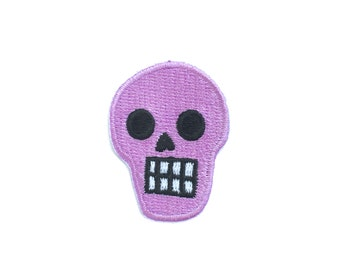 PURPLE SKULL mini PATCH