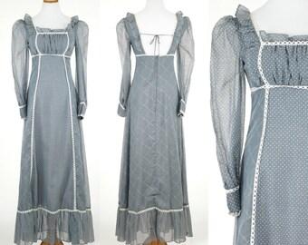 Gunne Sax by Jessica San Francisco Dress / Victorian Dress / 70s early 80s maxi dress Small