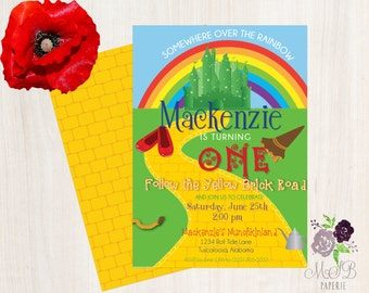 PRINTABLE Wizard of Oz Birthday Party Invitation
