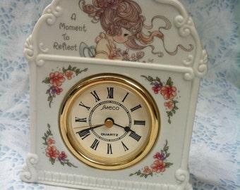 Precious Moments Pretty Girl Mantle Clock