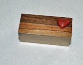 Cherry Puzzle Trick Box  with Redheart Heart as the Secret Latch -jewelry not included