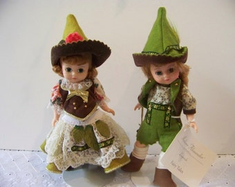 Elf boy and girl as set Madame Alexander 8 in dolls