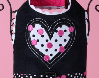 VALENTINE:  Be Mine Heart Dog Harness