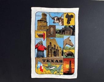 Vintage Texas Tea Towel by R. Batchelder Lone Star State Souvenir