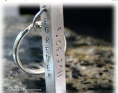 20% OFF - Custom Engraved - Four  Sided Solid Bar Keychain with Names on It
