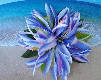 Tropical silk flower hawaiian hair clip (07)