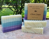 Clean Linen, Natural Handmade Soap, Cold Process Soap, VEGAN