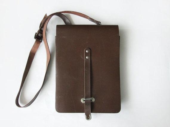 Vintage Men's Brown Bag, Military Bag, Messenger Bag, Soviet Army Bag