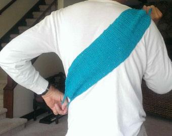 Hand Crochet Back Scrubber, Blue Washcloth,Long Washcloth, Cotton Washcloth, Old Back Scrub,Shower Accessory,Gift