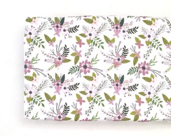 Changing Pad Cover Lavender Sprigs and Blooms. Change Pad. Changing Pad. Minky Changing Pad Cover. Lavender Floral Changing Pad Cover.