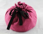 Pink Suedette Lotus Birth Placenta Bag - Unlined