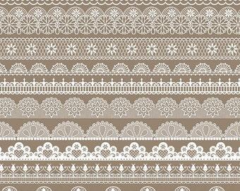 70% Sale Lace Borders - Digital Clipart / Scrapbooking - card design, invitations, paper crafts, web design - INSTANT DOWNLOAD