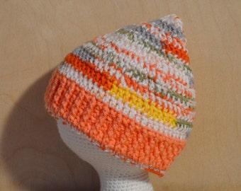 Childs Hat, Winter Hat, Crochet Hat, Tangello and Mango