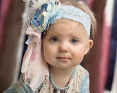 Baby Headband- Matilda Jane Headband- Blue Baby Headband- Girls Headband- Avry Couture Creations