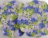5 Dishcloths, Washcloths, Doilies, Hotpads, 100% Cotton, Set of Five